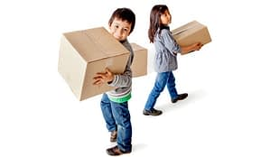 kids carrying boxes