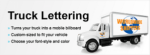 truck lettering poster
