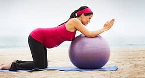 woman on Yoga-Ball